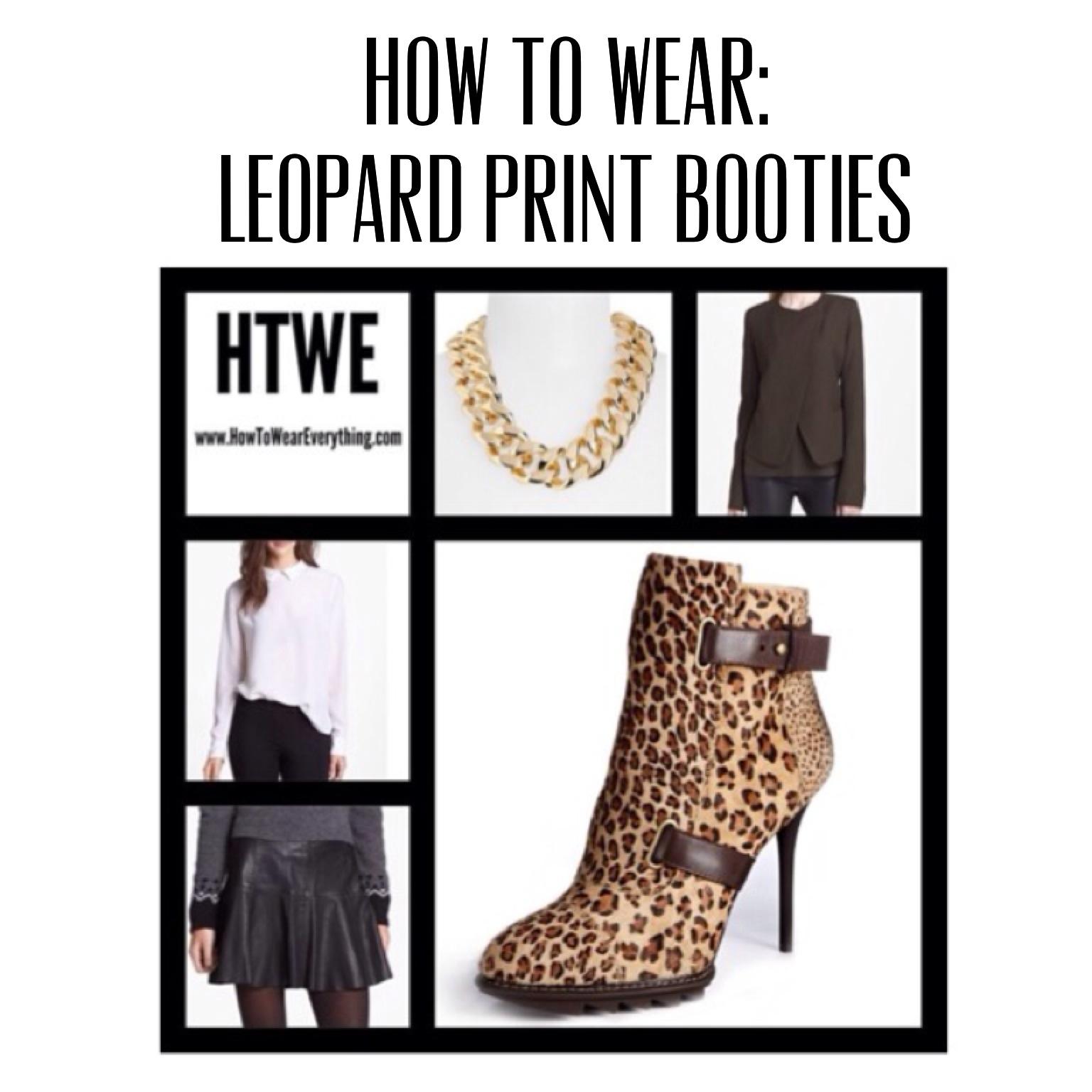 How To Wear: Leopard Print Booties