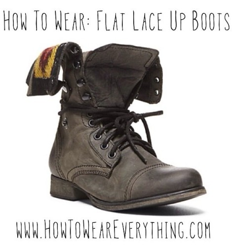 How To Wear: Flat Lace Up Boots