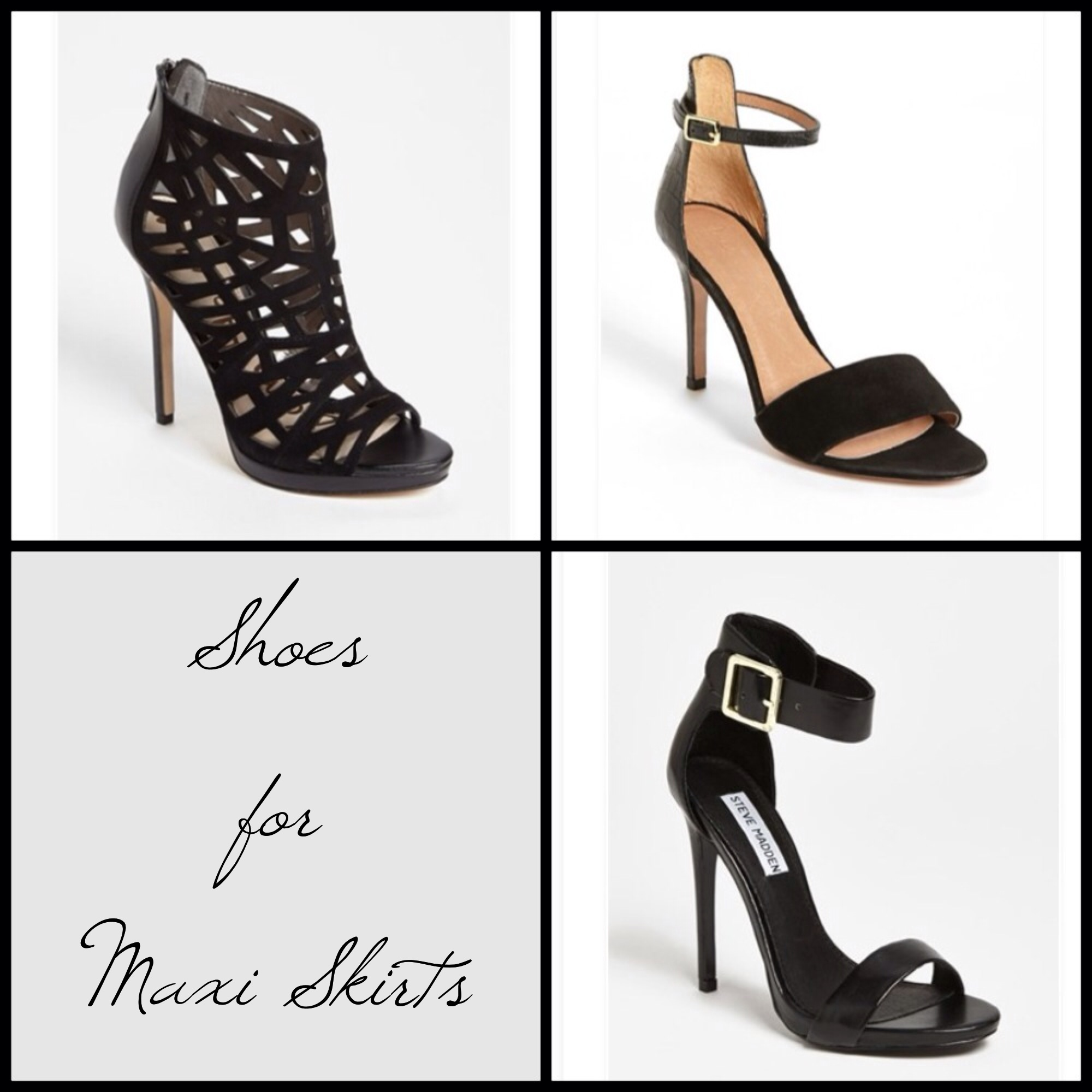 the shoes to wear with maxi skirts htwe